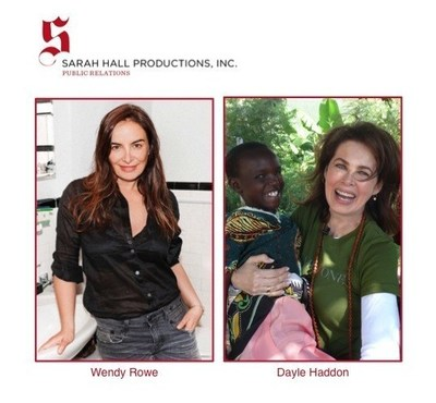SHP's new clients: Wendy Rowe (L) & Dayle Haddon (R)