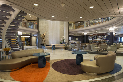 2014 redesign of the Crystal Symphony Crystal Plaza (PRNewsFoto/Crystal Cruises)