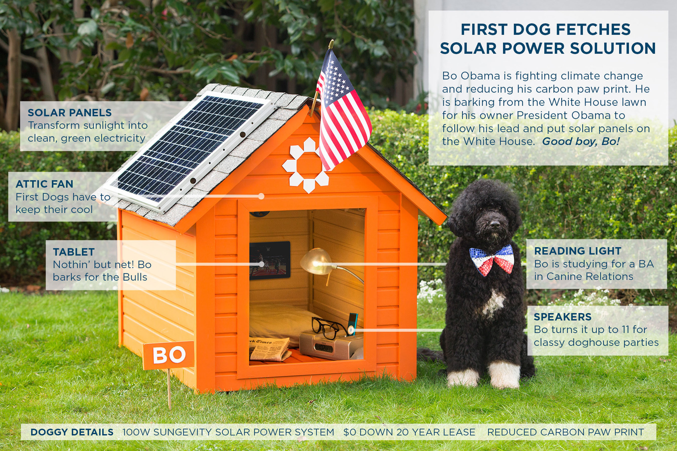 Sungevity: President Obama Addresses Climate Change While First Dog Bo Fetches The Solution