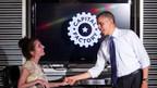 Kenguru President Stacy Zoern meets with President Barack Obama May 2013. (PRNewsFoto/KLD Energy Technologies)