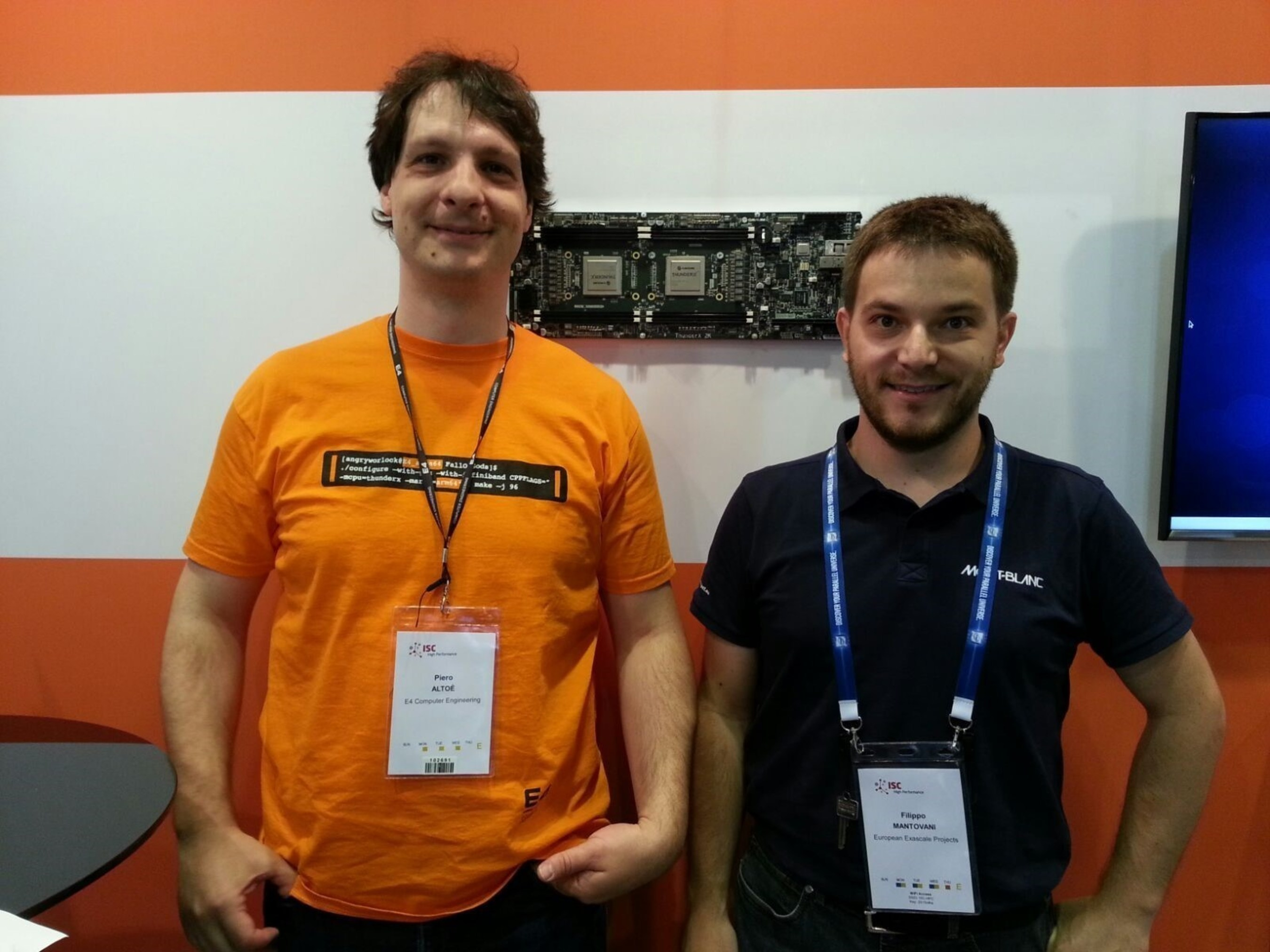 Piero Altoe and Filippo Mantovani at ISC 2015