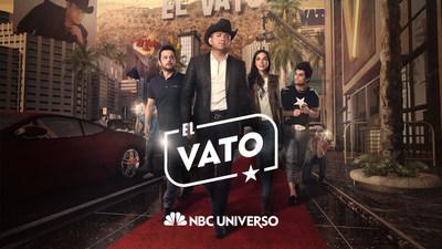 """Elenco de la serie original """"El Vato"""" de NBC UNIVERSO, con El Dasa, Cristina Rodlo, Gustavo Egelhaaf y Ricardo Polanco en los papeles protagonicos"""