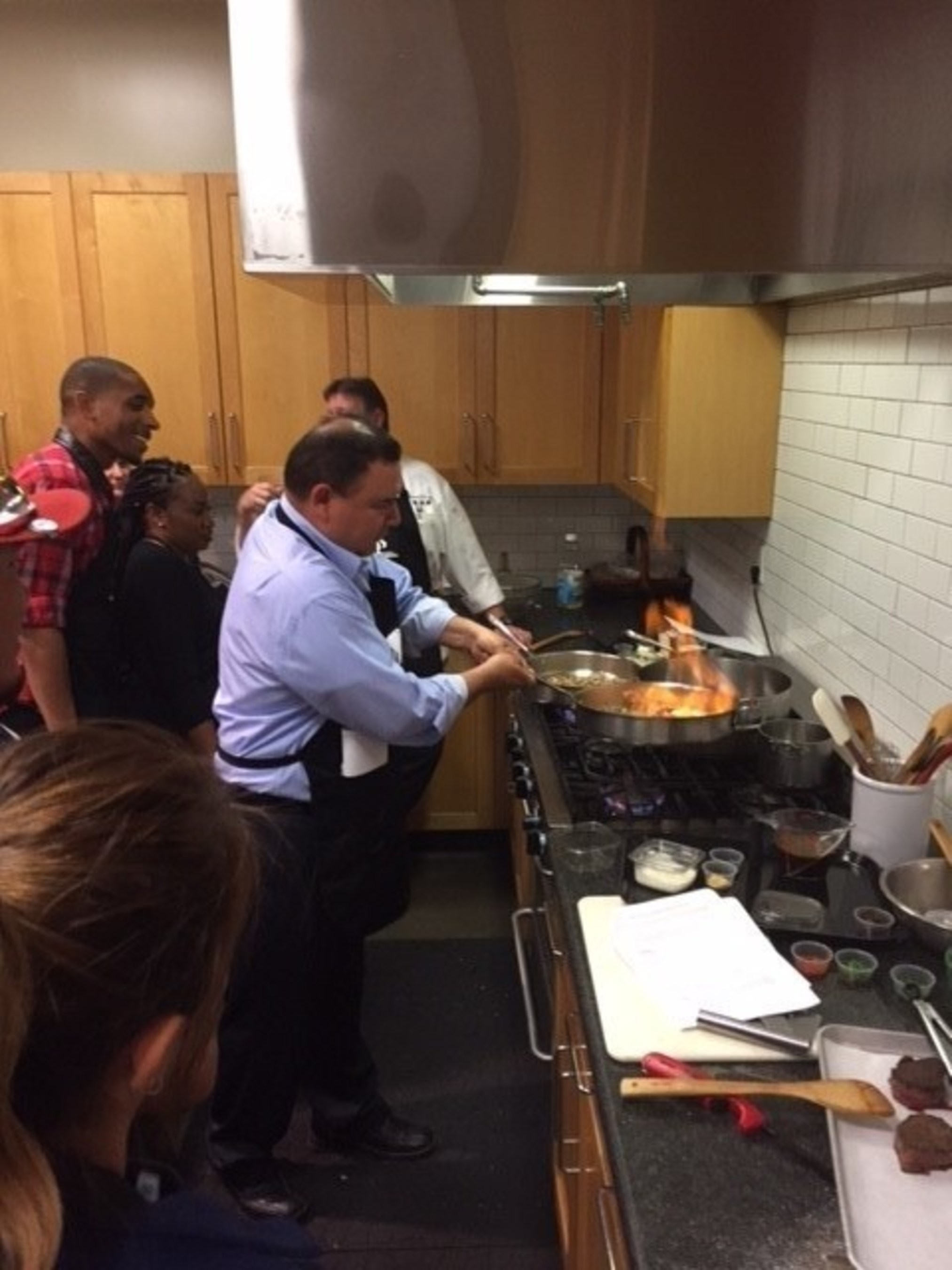 A unique cooking class brings wounded warriors together.