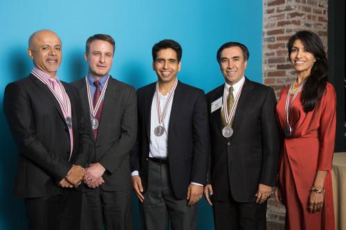 L-R - Abraham Verghese, Jonathan Foley, Salman Khan, Sanjeev Arora and Leila Janah. (PRNewsFoto/Heinz Family ...