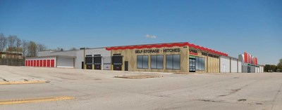 Rendering of how new Iowa store U-Haul Moving & Storage of Davenport will look after renovations.