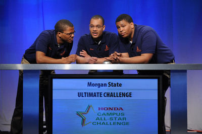 Morgan State University, back to back national champions, look to three-peat at the 2014 25th anniversary Honda Campus All-Star Challenge (HCASC) to be held April 12-16 on the campus of American Honda Motor Co., Inc., in Torrance, California.  (PRNewsFoto/American Honda Motor Co., Inc.)