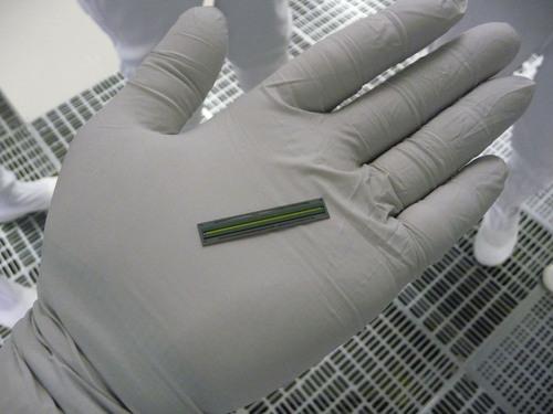 The new Epson(R) MEMS-based PrecisionCore(TM) print chip integrates 800 nozzles.  (PRNewsFoto/Epson America, ...