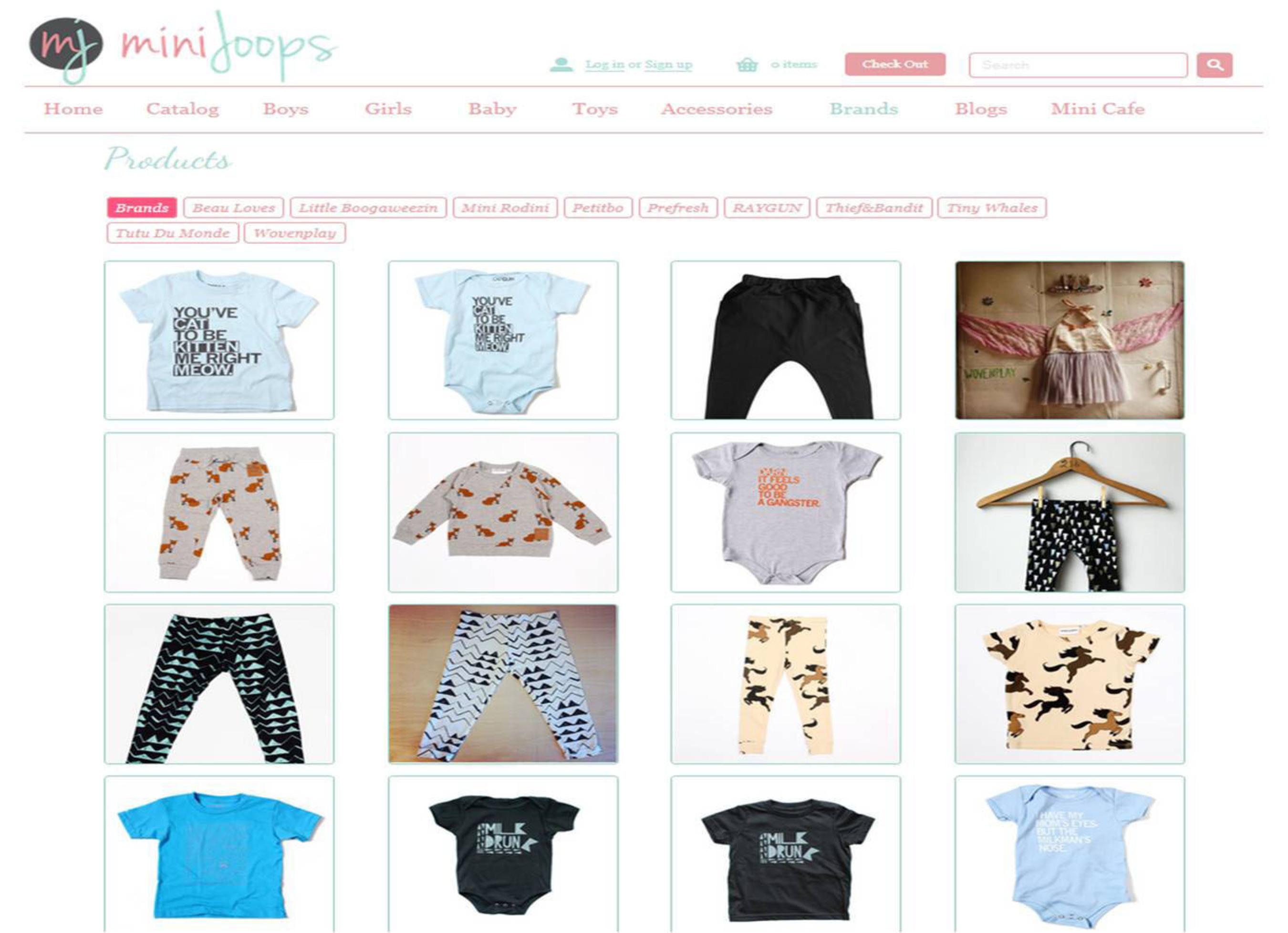 MiniJoops featured brands. (PRNewsFoto/MiniJoops)