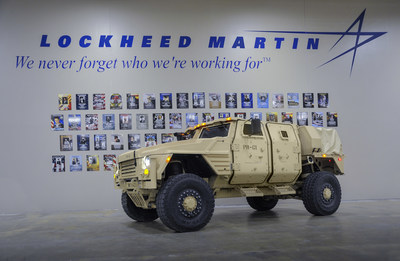 This production-representative Lockheed Martin JLTV was produced at the company's award-winning production facility in Camden, Arkansas.