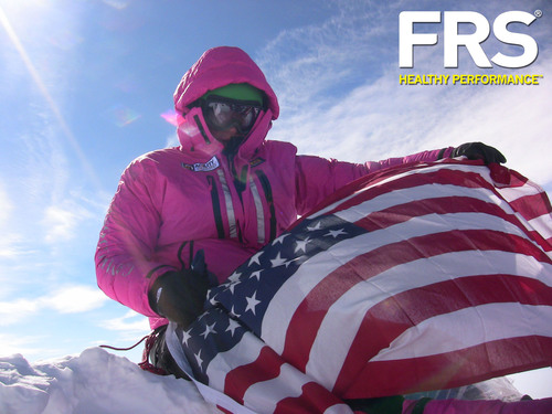 FRS athlete, Jordan Romero, becomes the youngest person to conquer the seven summits.  (PRNewsFoto/The FRS Company)