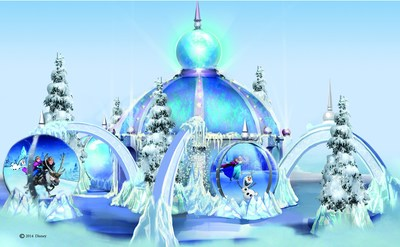 "Ice Palaces Celebrating Disney's ""Frozen"" Sing-Along Edition DVD Release Will Be Featured in 10 Taubman malls from November 6 - December 24"