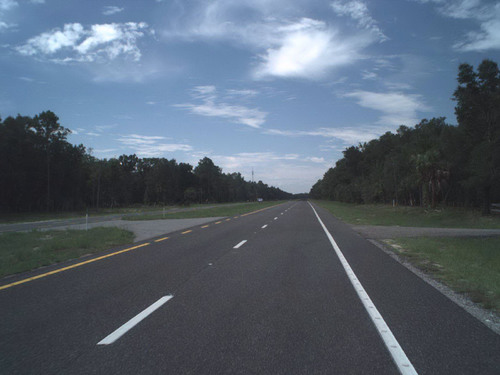 Award-winning pavement, Florida State Road 55/U.S. 19 in Levy County, from the Citrus County line to State Road 121.  (PRNewsFoto/Asphalt Pavement Alliance)