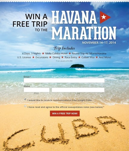 Win a Free Trip to the Havana Marathon by Insight Cuba (PRNewsFoto/Insight Cuba)