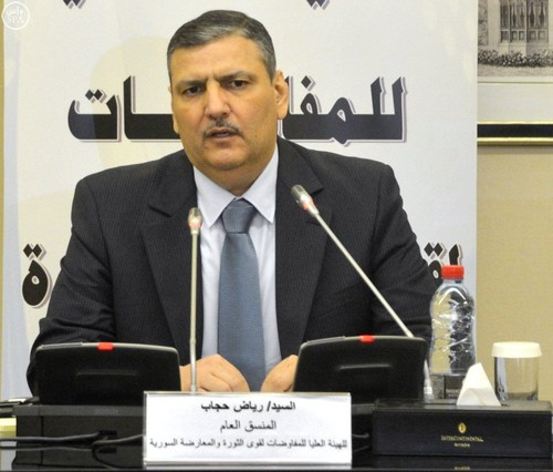 Dr. Riad Hijab, Syria's former Prime Minister : Syria's Supreme Commission for Negotiations Convenes (PRNewsFoto/Office of Dr Riad Hijab) (PRNewsFoto/Office of Dr Riad Hijab)