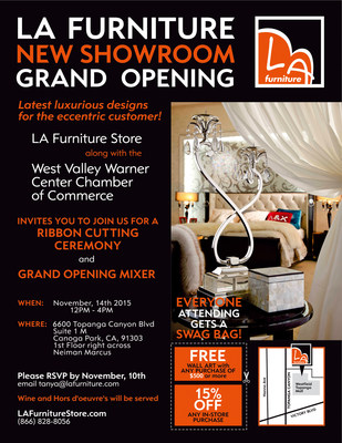 LA Furniture Showroom Grand Opening At Topanga Shopping Center In Woodland  Hills