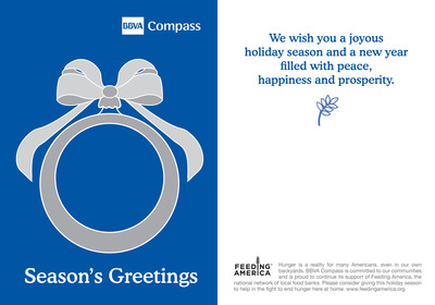 BBVA Compass supports Feeding America and 22 of its network food banks in holiday initiative.  (PRNewsFoto/BBVA Compass)