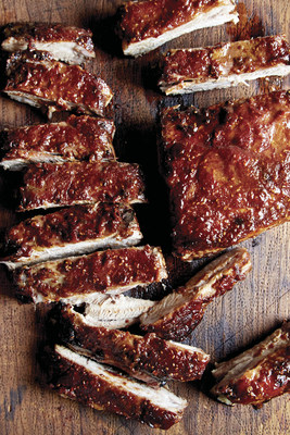 Ribs with Homemade Raspberry Chipotle Barbecue Sauce