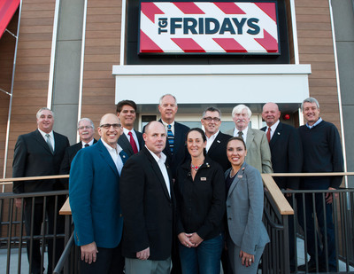Community leaders including Mayor Joseph C. Sullivan joined Fridays CEO Nick Shepherd and guests to celebrate the reopening of the Braintree TGI Fridays(TM).  (PRNewsFoto/TGI Fridays)