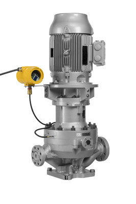 The Sundyne GSPV API 685 sealless magnetic drive vertical pump, featuring the VapourView Pump Protection System.