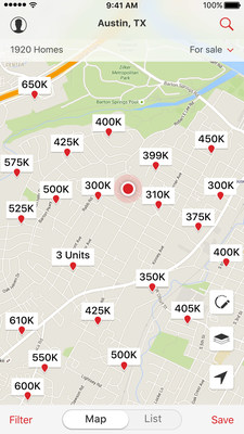 Nearby homes feature