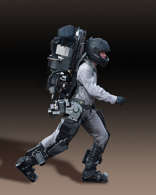 Sarcos is a leader in development and production of human operated robots designed to improve safety and keep humans out of harm's way. Pictured here is the Guardian Exoskeleton, which will be capable of lifting hundreds of pounds when it is commercially available.