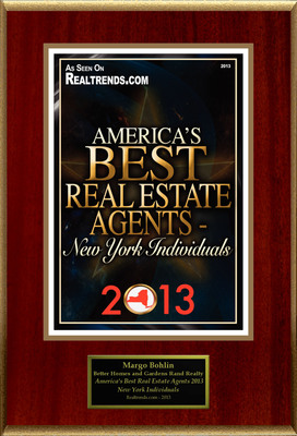 "Margo Bohlin Selected For ""America's Best Real Estate Agents 2013 - New York Individuals"".  (PRNewsFoto/American Registry)"