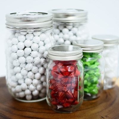 The new Ball(R) 4 oz. Miniature Storage Jars are perfect for holiday crafting.