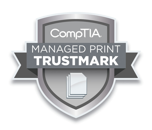Ricoh Company, Ltd. (Ricoh) today announced it has been honored by CompTIA, a leading non-profit association for the information technology (IT) industry, with its CompTIA Managed Print Trustmark(TM).  (PRNewsFoto/Ricoh Americas Corporation)
