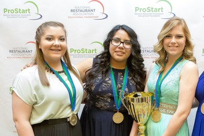 Students from New Caney High School, in New Caney, Texas, win first place at national restaurant management competition.