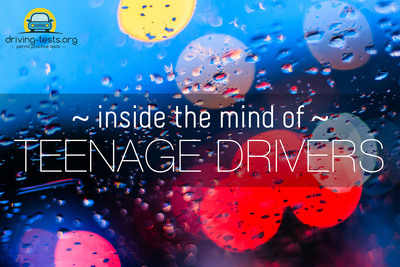 New nationwide study reveals what's going on inside the minds of teenage drivers.  (PRNewsFoto/Driving-Tests.org)