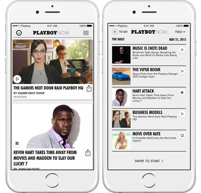 Playboy today introduced a brand new mobile app, Playboy NOW.