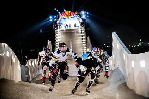 The Ice Cross Downhill Championships at Red Bull Crashed Ice in Saint Paul. (Red Bull Content Pool).  (PRNewsFoto/Red Bull)