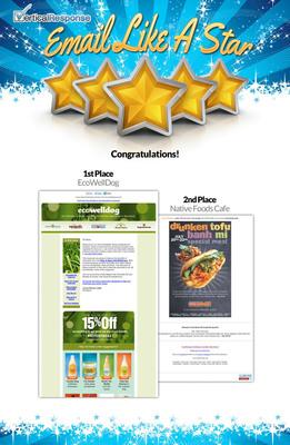 VerticalResponse 'Email Like a Star' contest winners.  (PRNewsFoto/VerticalResponse)