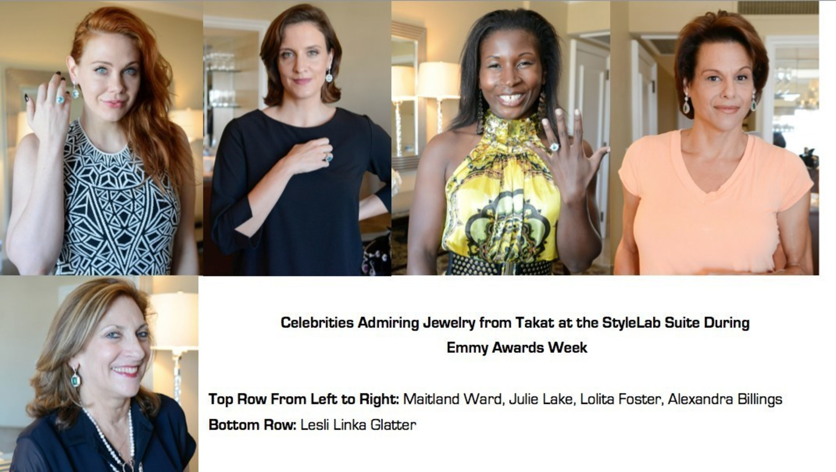 Celebrities And Their Stylists Previewed Jewelry From Takat At StyleLab's Suite During Emmy Awards Week