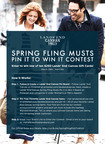 "In honor of all things Spring, Lands' End Canvas is hosting a ""Spring Fling Musts"" Pin It to Win It contest for fans.  Participants are encouraged to browse landsendcanvas.com and create virtual pinboards featuring an assortment of their favorite spring selections for a chance to win one of ten $250 Lands' End Canvas gift cards.  (PRNewsFoto/Lands' End Canvas(TM))"