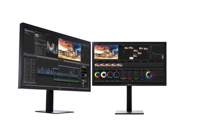 LG Electronics is introducing two new displays designed specifically to integrate seamlessly with the newest MacBook and MacBook Pro models. The new LG UltraFine 27-inch 5K and 21.5-inch 4K monitors are ideal for creating an expanded work space in the home or office and the perfect complement for MacBook and MacBook Pro users who desire expansive, high-quality resolution. The 27-inch LG UltraFine 5K model (left) will be available in early December and the 21.5-inch LG UltraFine 4K model (right) will be available starting in November at Apple Stores in the United States. Please visit www.apple.com for more information.