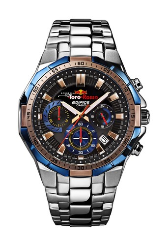 The new EDIFICE Scuderia Toro Rosso Limited Edition watch, EFR-554TR, marks Casio's first partnership model with Scuderia Toro Rosso. (PRNewsFoto/Casio)