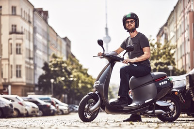 Gogoro Smartscooter for new Coup scooter sharing service in Berlin.