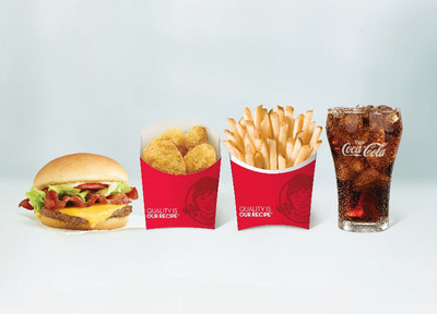 Get more for four with Wendy's new 4 for $4 Meal!  A lunch-time game changer, Wendy's new 4 for $4 Meal includes a Jr. Bacon Cheeseburger, four all white-meat chicken nuggets, small fries and a drink for just $4. With the 4 for $4 Meal, customers can now get a big deal on a delicious meal.