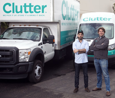 Ari Mir and Brian Thomas, co-founders of Clutter, at one of their many storage centers. Their full-service storage product picks up, stores and returns customer's belongings at the push of a button. On April 7, Clutter announced Sequoia Capital led their recent Series B funding for $20M after previously leading Clutter's Series A in the Fall.