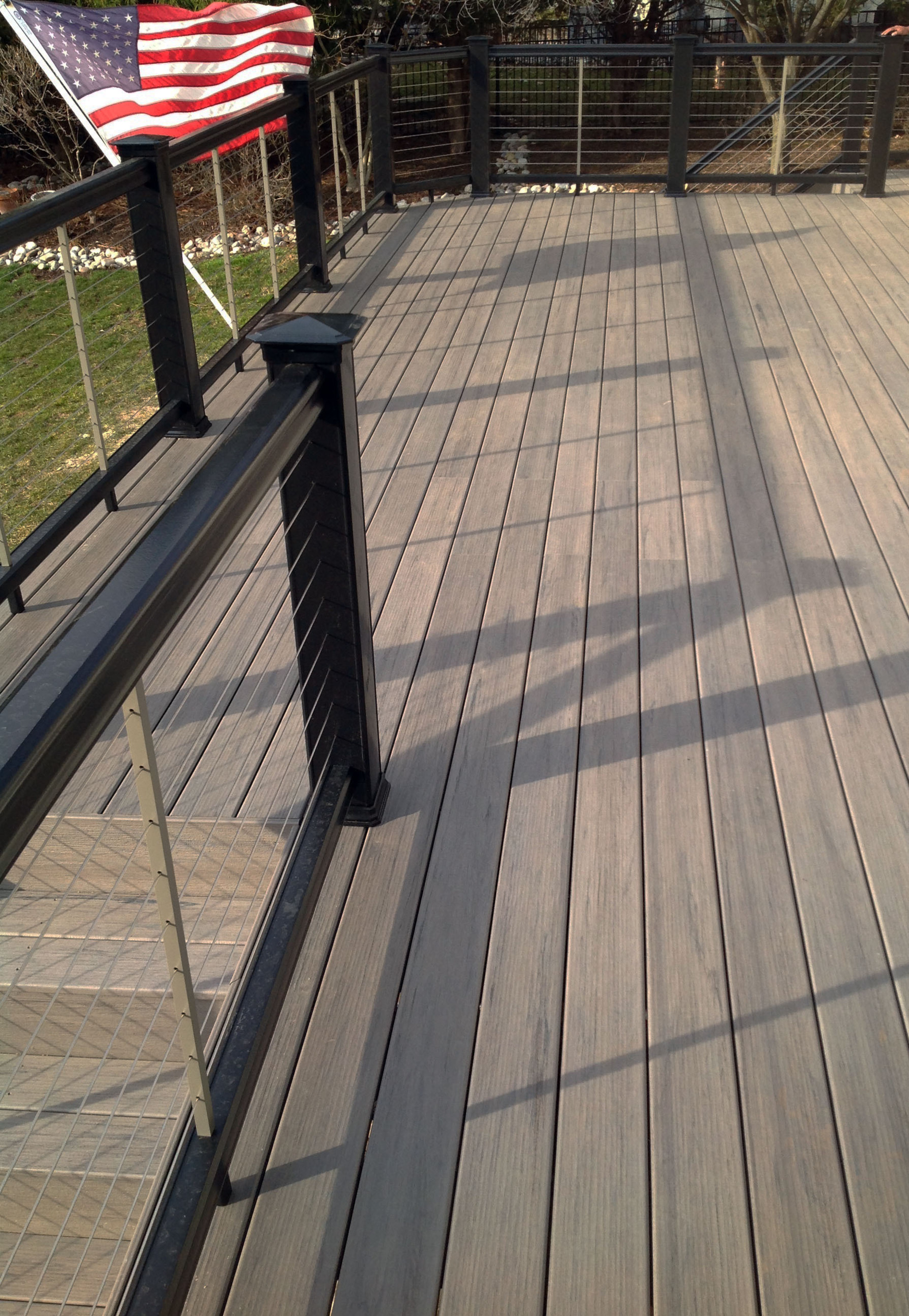 Homeowner replaces deck with latest capped composite with for What is capped composite decking