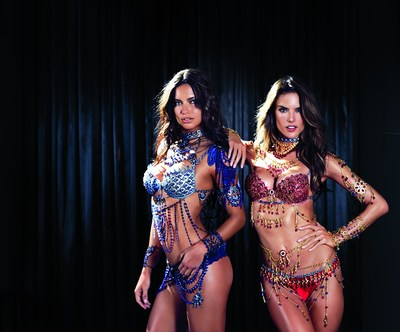 Adriana Lima, Alessandra Ambrosio in the 2014 Victoria's Secret Fantasy Bras
