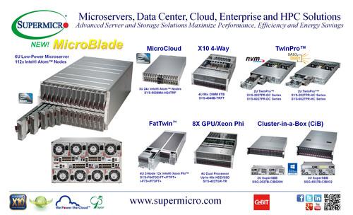 Supermicro(R) Solutions for Microservers, Data Center, Cloud, Enterprise IT & HPC. (PRNewsFoto/Super Micro Computer, Inc.) (PRNewsFoto/SUPER MICRO COMPUTER, INC.)