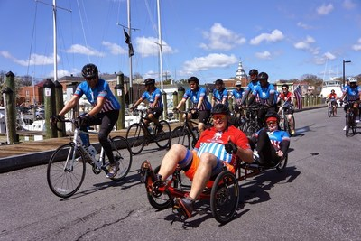 Wounded Warrior Project Alumni taking part in a Soldier Ride event.