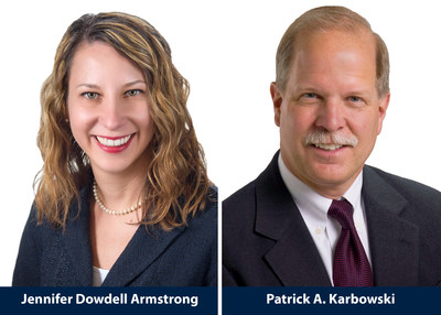 McDonald Hopkins Elects Two Members: Litigator Jennifer Dowdell Armstrong and real estate attorney Patrick A. Karbowski (PRNewsFoto/McDonald Hopkins)