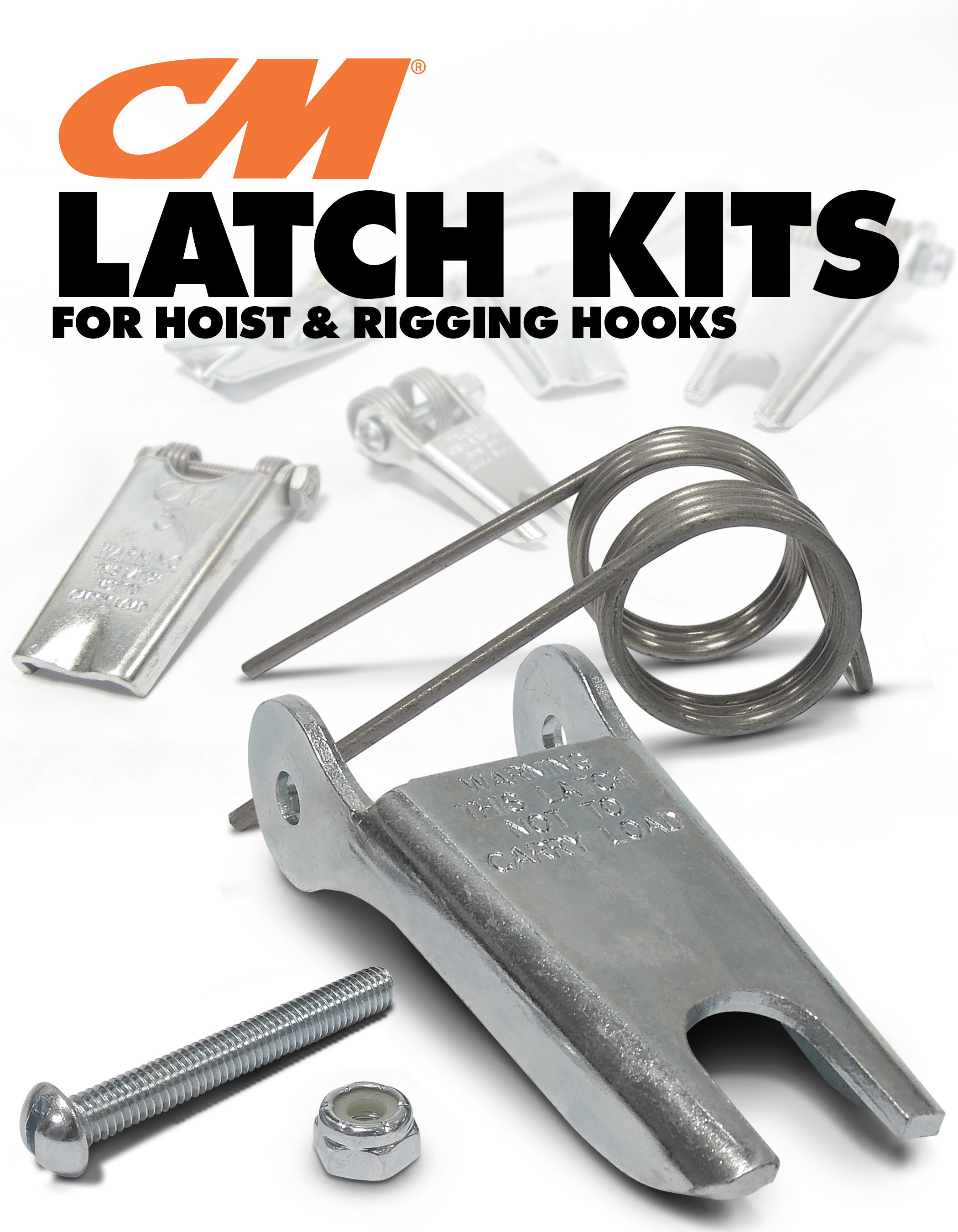 CM Latch Kits for Hoist and Rigging Hooks Now Available in Easy-to