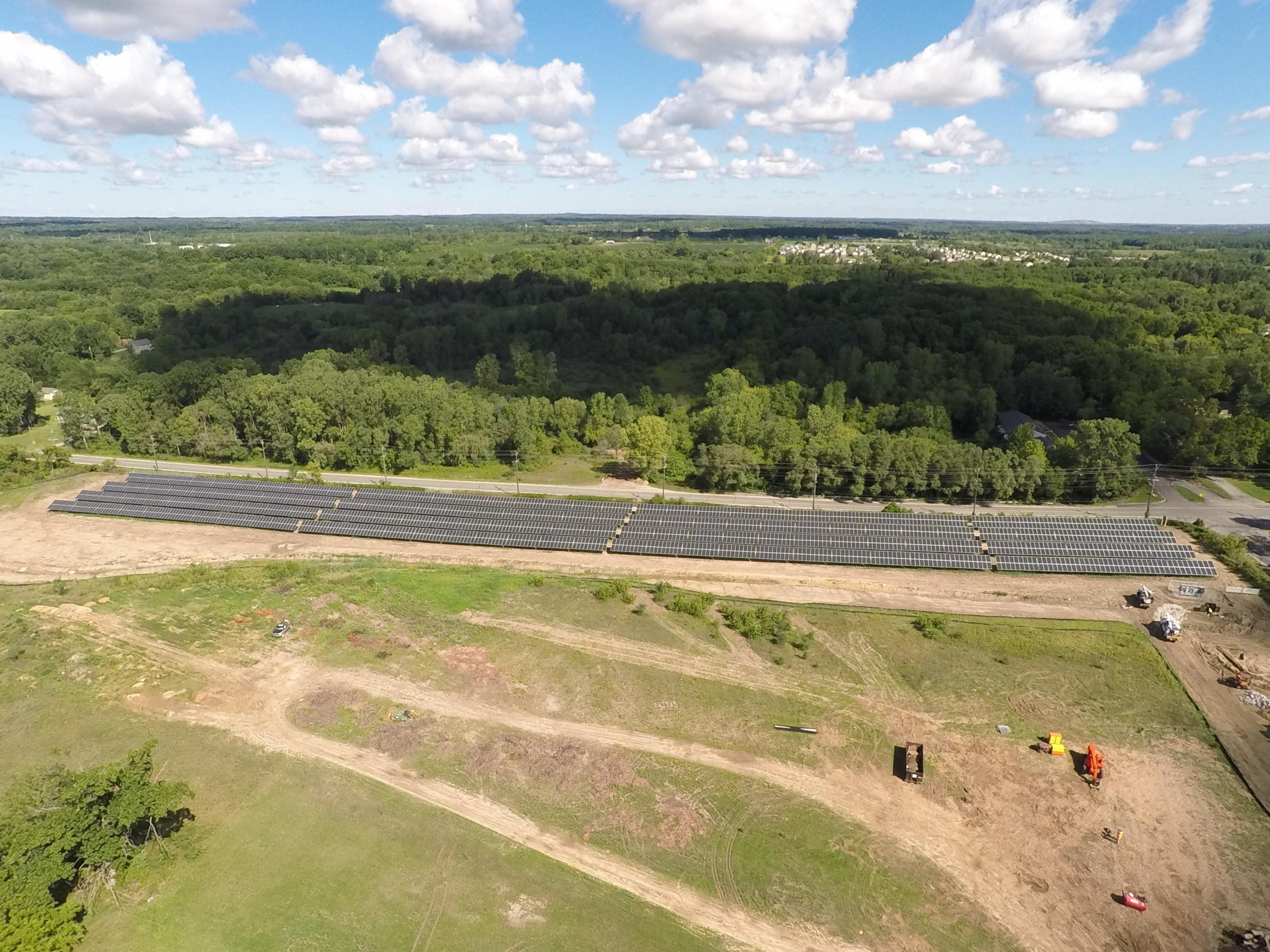 DTE' Energy's new solar array in Ypsilanti, MI.