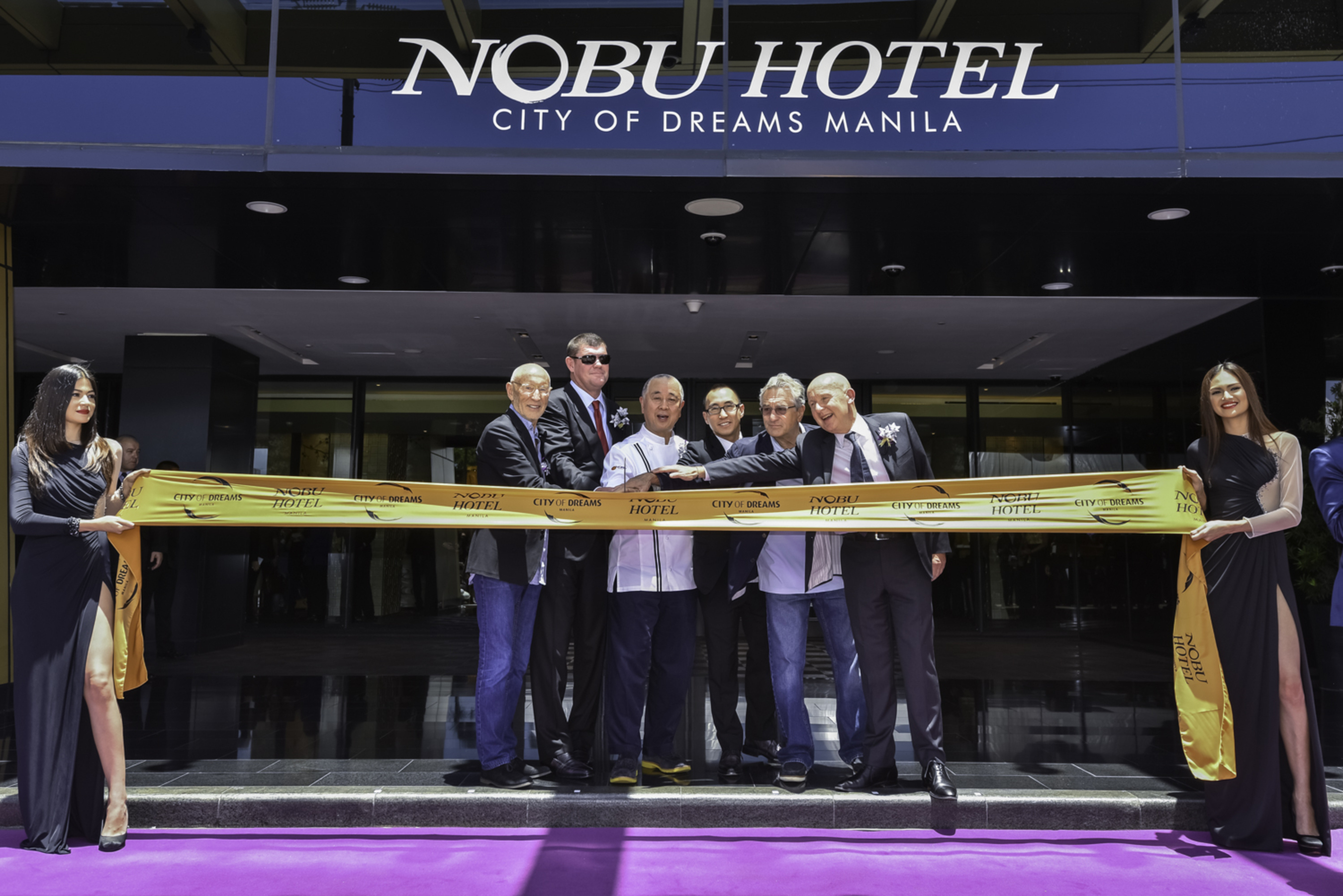 The official Ribbon Cutting Ceremony to formally open the doors of the first Nobu Hotel in Asia at City of ...