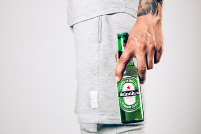 Heineken USA and KITH NYC today debuted a custom basics set for the first of five 2015 #Heineken100 program offerings. Heineken is partnering with local retailers in New York City, Los Angeles, Miami, Chicago and Boston on ultra-limited products and local initiatives.
