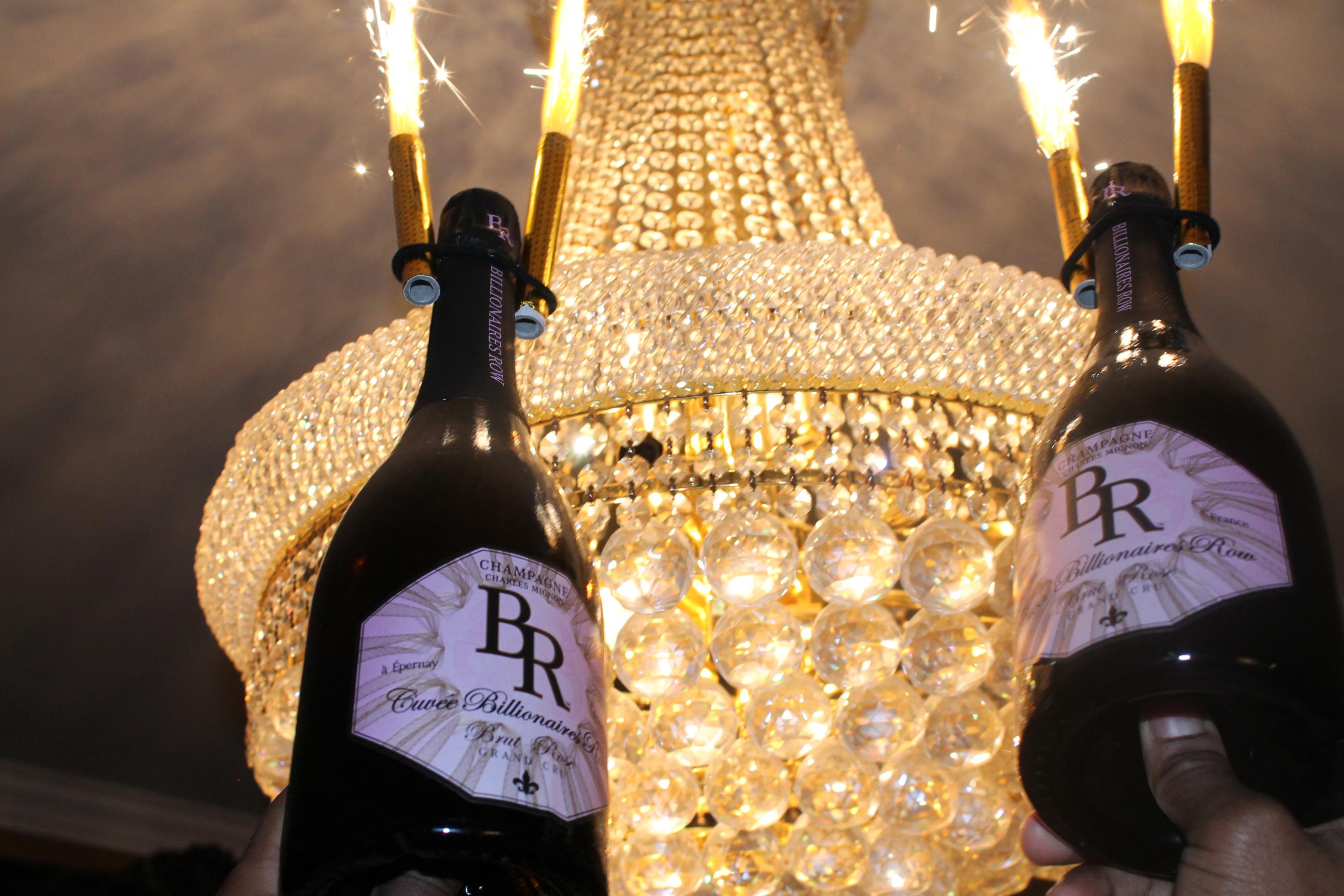 Firecracker bottles.  (PRNewsFoto/Billionaires Row)